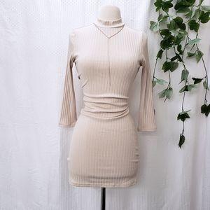 Ribbed Mock Neck Long Sleeve Forever 21 Dress ⚫️
